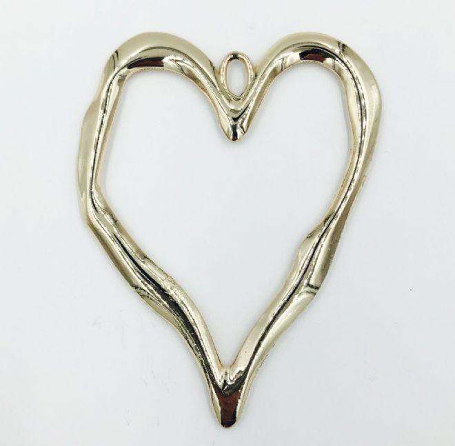 Big heart pendant 9cm x 7.5 cm -Gold